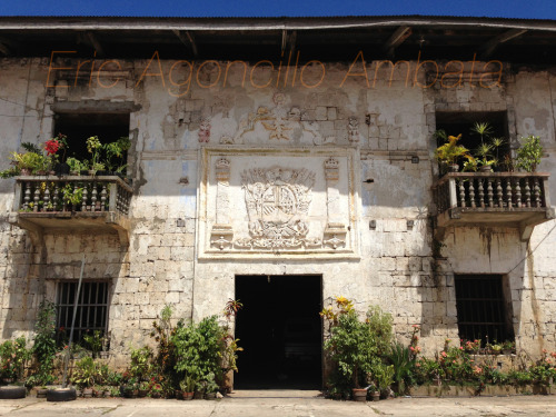 HABSBURG: A former convent now St. Francis of Assisi Museum in Siquijor Island. This beautiful Spanish era coral stone structure is obscured by an elementary school. You have to go inside the school to see the building itself. The facade carries the Spanish Habsburg Royal Coat of Arms, they ruled Spain from 15th to 17th centuries. It has the two pillars of Hercules and Rampant Lion supporters.