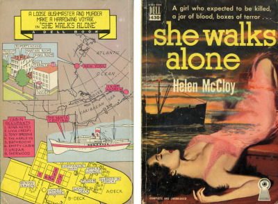 Dell Books 430 -She Walks Alone (with mapback) by  Helen McCloy; 1950