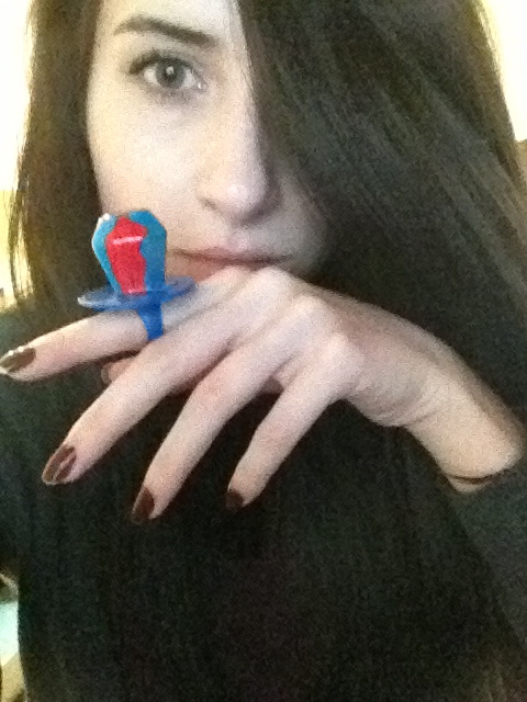 Chris brought me a ring pop
