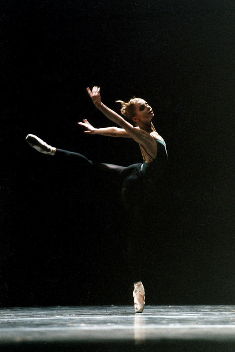 "everythingplus-thekitchensink:  Evgenia in ""In the Middle Somewhat Elevated"" chor. Forsythe"
