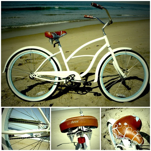 beachbikers:  Bike of the Day: the sixthreezero Women's BE white/blue! #beachbikes #beachcruiser #sixthreezero #womensbe