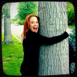 Hug a tree! I swear you will feel rejuvenated and happy. It gives back… 🌳🌴🌲🍃