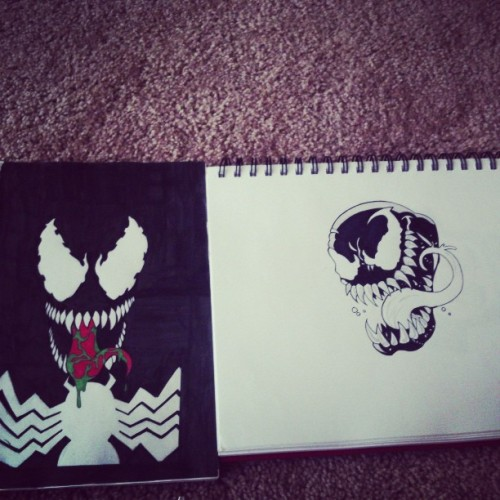 #Old sketchbook venom and #new #sketchbook #venom #art #artwork #marvel #ink #drawing #draw #detroit #artsy #myart #comic