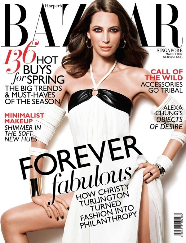 Christy Turlington for Harpers Bazaar March 2012