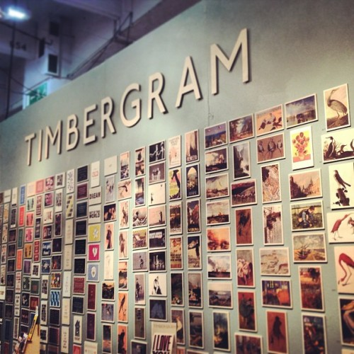 Vintage inspired timber postcards! @timbergram @pulse_london_ #pulse2013 #timbergram #postcards #launchpad #randomtypography  (at Earls Court Exhibition Centre)