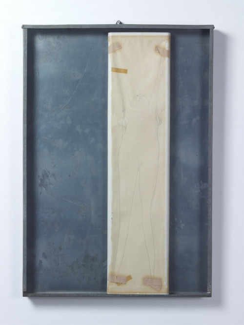 Joseph Beuys, Ohne Titel (Untitled), 1966Pencil, tape and sticking plaster on paper on material board, in zinc sheet box 77.9 x 54 x 3.5 cm / 30 2/3 x 21 1/4 x 1 3/8 in VIA
