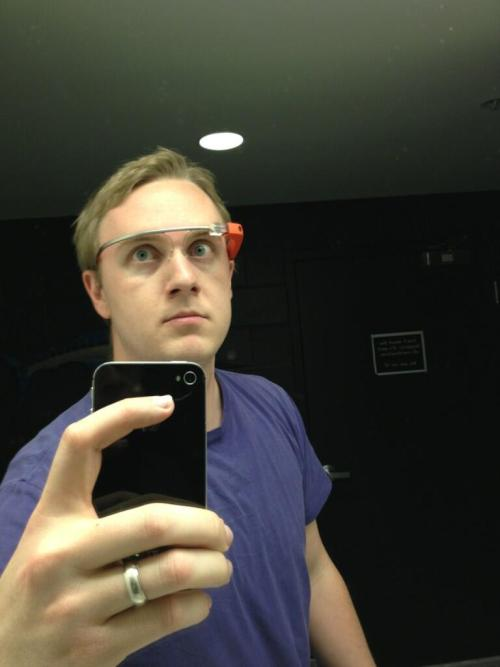 whitemenwearinggoogleglass:  https://twitter.com/evrhet/status/330503865269108737  Even grosser.