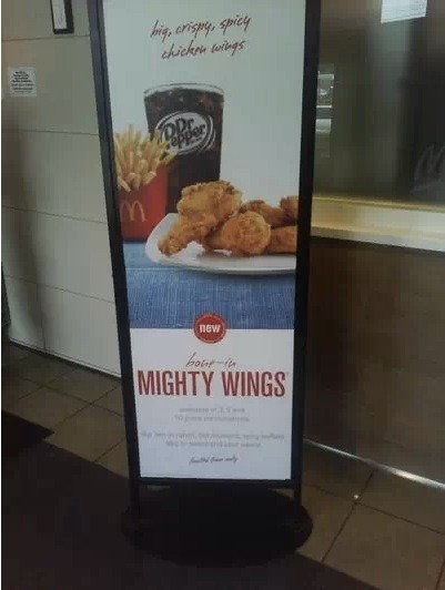 Are Mcdonald's chicken wings coming to a location near you?… It's a possibility. After a successful trial run in Atlanta, the chicken wings are now being spotted in Chicago. Perhaps they're coming to your town soon.