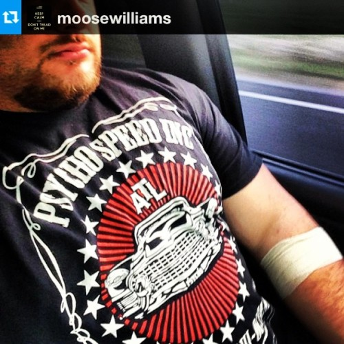 "#Repost from @moosewilliams ""Rocking my @psychospeed shirt today"" #DirtySouthOctane #Atlanta #HotLanta #PsychoSpeed #GoFollow   Thanks for the support Moose! #teampsycho #psychos #psychosquad  (at Baytown, TX)"