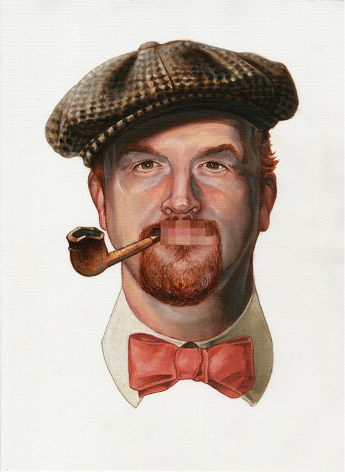 nick-sullivan:  Final painting of Louis C.K!! Lets hope I get the opportunity to meet him tomorrow and give it to him!
