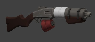 More shotguns. I don't plan on submitting this one. Texture still wip.