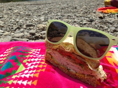 Today I took a sandwich to the beach.