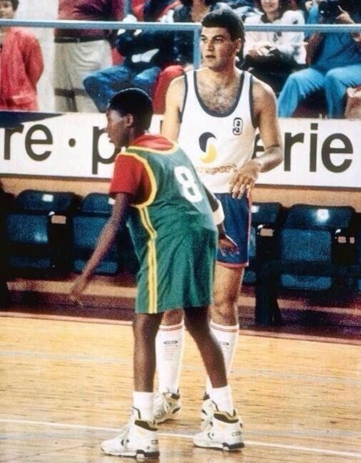 Kobe Bryant at 12-years-old playing against a grown-ass Italian man who looks like a hairier (and so more Italian) Carlos Delfino.