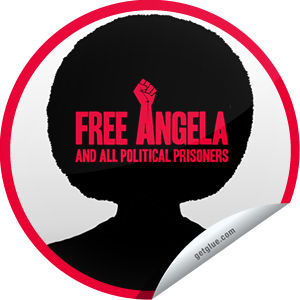 I just unlocked the Free Angela and all Political Prisoners sticker on GetGlue                      1698 others have also unlocked the Free Angela and all Political Prisoners sticker on GetGlue.com                  Free Angela is a gripping historic account of the events that catapulted a young University of California philosophy professor into a controversial political icon in the turbulent late 1960s. It opens in select theaters on 4/5. Be sure to check it out. Share this one proudly. It's from our friends at Codeblack Films.