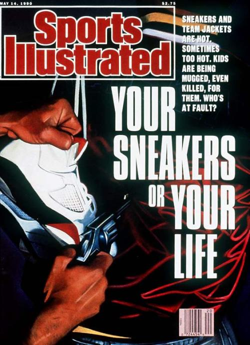 "upnorthtrips:  ""Your Sneakers of Your Life"" - Sports Illustrated (May 14, 1990)"