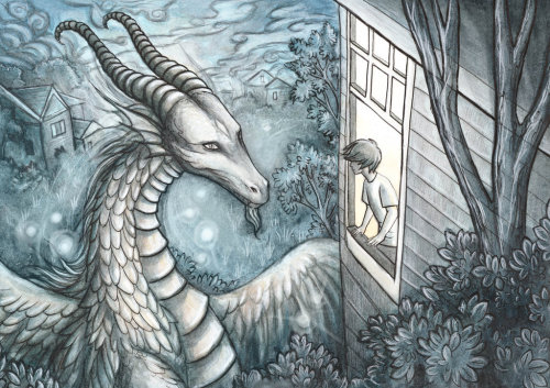morningwinds:   A Dragon at the Window by ~Evanira