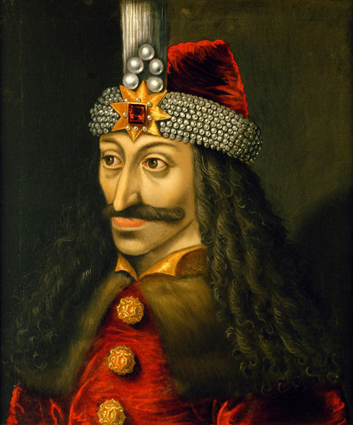 Vlad III Țepeș became famous as a tyrant taking sadistic pleasure in torturing and killing. He is shown in crypto-portraits made during his lifetime in the role of cruel rulers or executioners. After Vlad's death, his cruel deeds were reported with macabre gusto in popular pamphlets in Germany, reprinted from the 1480s until the 1560s, and to a lesser extent in Tsarist Russia. Estimates of the number of his victims range from 40,000 to 100,000, comparable to the cumulative number of executions over four centuries of European witchhunts. According to the German stories the number of victims he had killed was at least 80,000. In addition to the 80,000 victims mentioned he also had whole villages and fortresses destroyed and burned to the ground. Impalement was Vlad's preferred method of torture and execution. Several woodcuts from German pamphlets of the late 15th and early 16th centuries show Vlad feasting in a forest of stakes and their grisly burdens outside Brașov, while a nearby executioner cuts apart other victims. It was reported that an invading Ottoman army turned back in fright when it encountered thousands of rotting corpses on the banks of the Danube. It has also been said that in 1462 Mehmed II, the conqueror of Constantinople, a man noted for his own psychological warfare tactics, returned to Constantinople after being sickened by the sight of 20,000 impaled corpses outside Vlad's capital of Târgoviște.