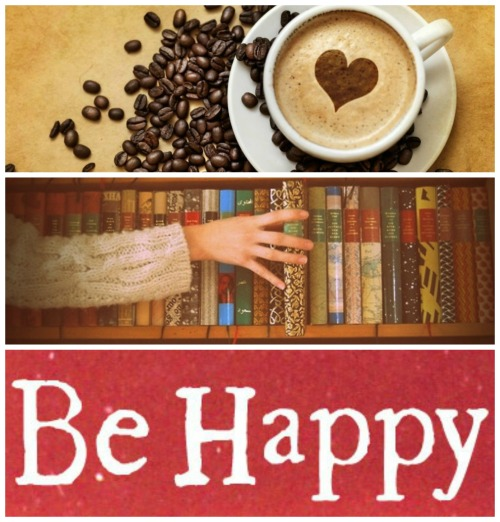 teachingliteracy:  agusshadowhunter: Drink coffee Read books Be happy  coffee & books = happiness.