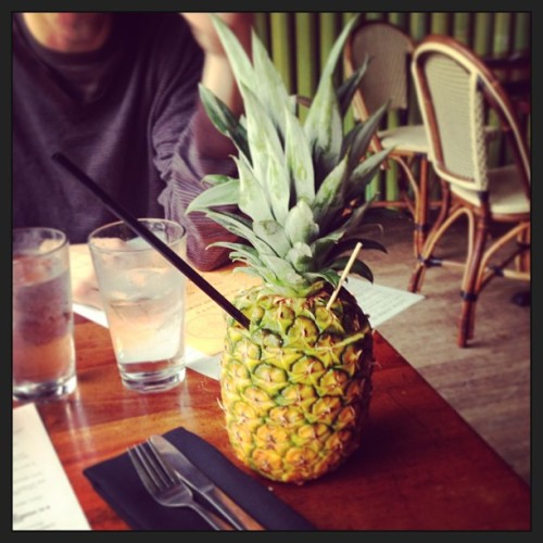 Cute boy, delicious food and a fancy pineapple drink. Birthday week is still going strong!!!