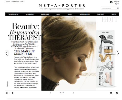 Net-a-Porter Gets Into The Beauty Game, Chanel Designs Sneakers, and More Net-a-Porter adds beauty to its luxurious lineup of items. [Beauty High] You know the fancy sneakers fad isn't going anywhere when Chanel decides to make its own pair. [Glamour] Can cake be healthy? Not really, but it can be healthier. Check out these gluten-free recipes for a smarter after dinner option. [Greatist] Mirrored sunglasses are the hottest accessory for spring, no doubt about it. [Refinery29] From the coolest texture to the longest-wearing top coat, check out the polishes to receive top honors for 2013. [SheFinds] —Charisse Boost your mood with food with this seven step guide.  (Photo: Net-a-Porter)