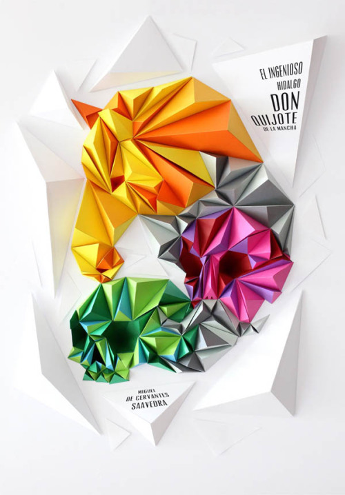 weandthecolor:  Creative Papercrafts Lobulo is a London and Barcelona based designer and illustrator who creates amazing papercrafts for magazine covers, editorial design or video projects. Papercrafts by Lobulo Design WE AND THE COLORWATC//Facebook//Twitter//Google+//Pinterest