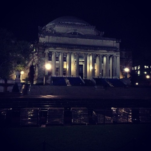 Columbia getting set up for grad. (at College Walk - Columbia University)
