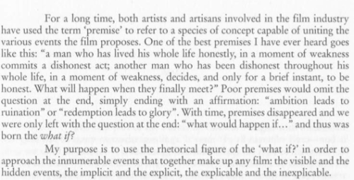 from the introduction of Raul Ruiz' POETICS OF CINEMA 2