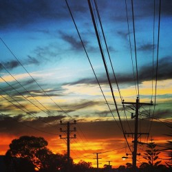 Nice sunset the other day in Melbourne #albionstreet #westbrunswick