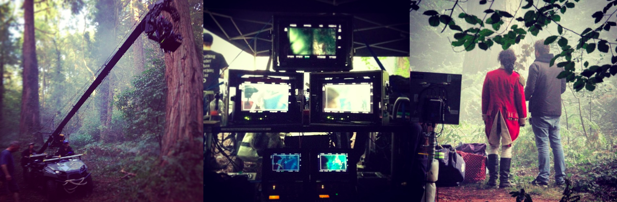 A few more stills from day 56 on Poldark. Big time toys and SFX ;)