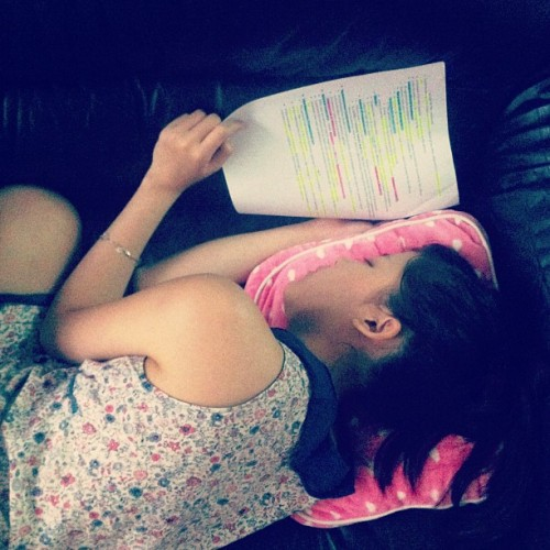 These days..!! all slee…study all the time!
