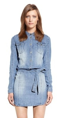 vogueandcoffee:  dknyprgirl:  Is this the most perfect little jean dress ever? Spring staple yes? #DKNYJeans  @dkny YES!! It will be perfect paired with my Frye boots…