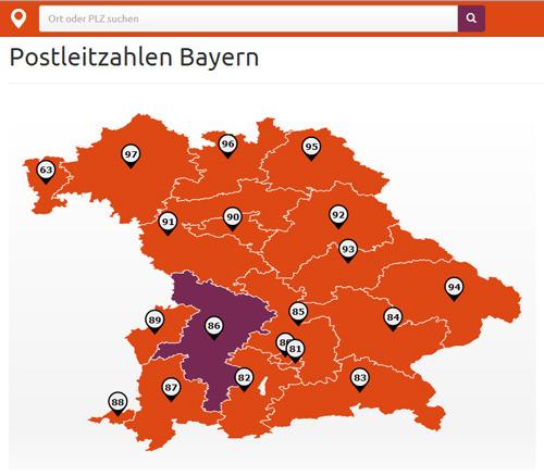 Gebiet karte plz 34 User
