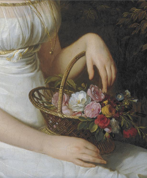 detailsofpaintings:  Louis-Léopold Boilly, Portrait of a Woman, possibly Madame Vincent 1820