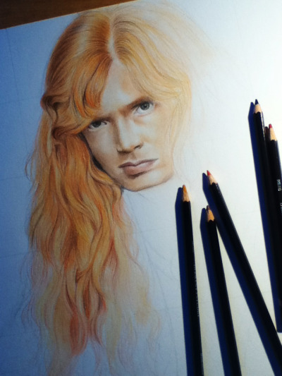 Dat hair!! *___* It's so fun to draw! :P (but damn so long)  made with Derwent studio colored pencils~