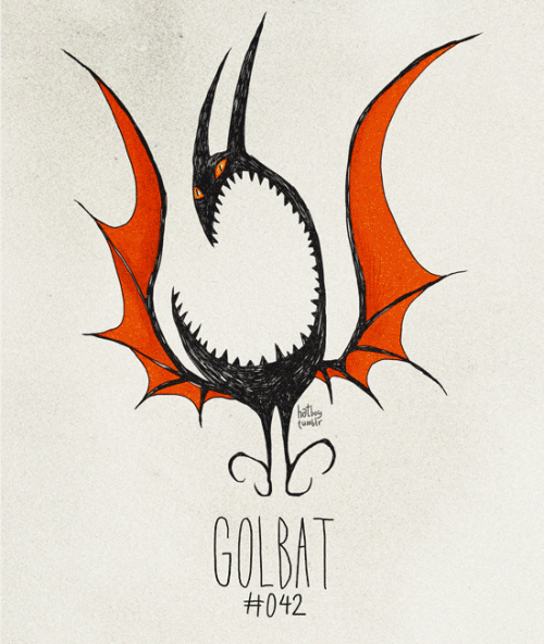 Golbat #042 Part of The Tim Burton x PKMN Project By Vaughn Pinpin