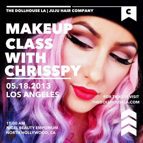 I will be teaching my first makeup class on May 18th in Los Angeles! We're hitting all the hot topics: blending, brows, contouring, and advice for aspiring makeup artists! Don't miss out! Seats are limited! Visit thedollhousela.com to reserve your space!