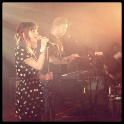 CHVRCHES powering up (at Hype Hotel)