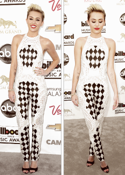 Miley Cyrus in a Balmain jumpsuit at the BMAs 2013