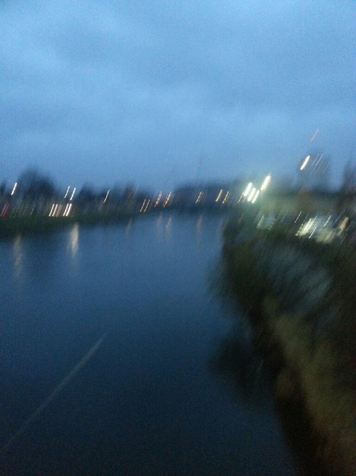 Yesterday morning in Cardiff, bleak, blurry and wet.