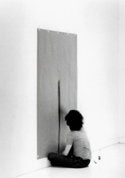 7while23:  Tom Marioni, Drawing a Line as Far as I Can Reach, 1972