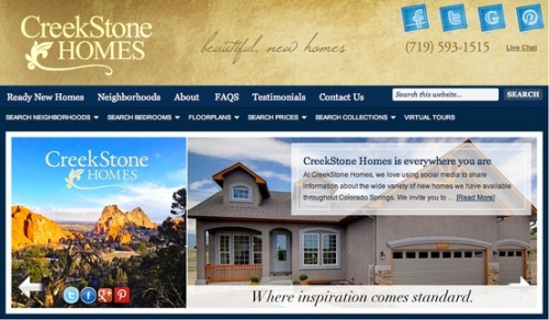 CreekStone New Homes in Colorado Springs | Colorado Springs web design marketing Denver social media, seo, email