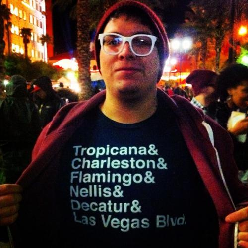 This t-shirt will only make sense if you grew up in Las Vegas. I saw this guy at a street party and asked him if I could photograph his shirt. As a native, it just spoke to me! For those of you not in the know, all those are major streets in Las Vegas.
