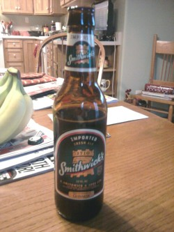 Smithwick's Irish Ale @ Mom and Dad's in Hurley, SD.  Happy St. Patrick's Day!