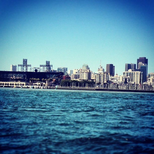 The city so dope man.  (at McCovey Cove)