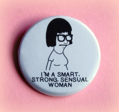 hills-are-mountains:  (via Tina Bob's Burgers button badge 15 Inch by PKPaperKitty on Etsy)