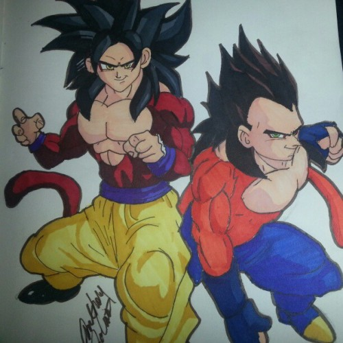#goku #vegeta #supersaiyan4 #dragonballgt #myart #anime #manga #drawing #sketch #dbgt #artwork