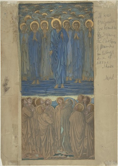 sebastianmorris:  Ascension of Christ, Study for stained-glass window:  Sir Edward Burne-Jones