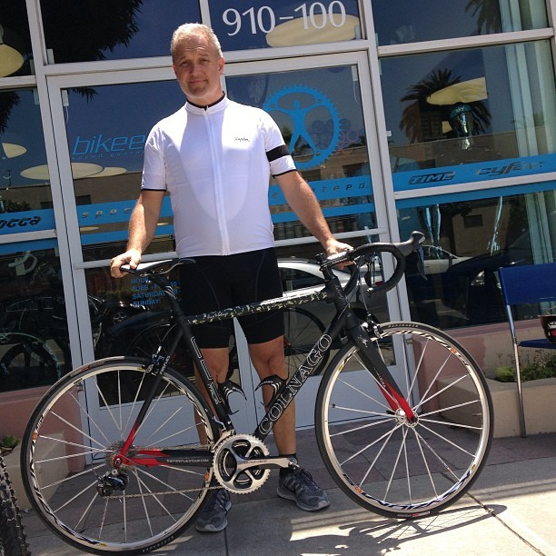 Rick's new bike has a fantastic story behind it… We are so happy it is staying in the Fireflies family! For those who suffer we ride. #fireflies #fireflieswest #cityofhope