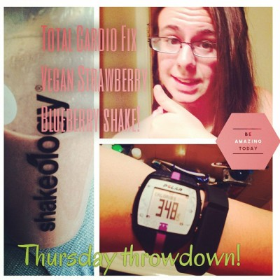 #Workout complete! Total Cardio Fix from #21dayfix kicked my butt, but I got to try out my new HeartRate monitor! Loving this #Polar FT7!! #sweaty #sweatpink #beachbody #sweatyselfie @beachbodyhq
