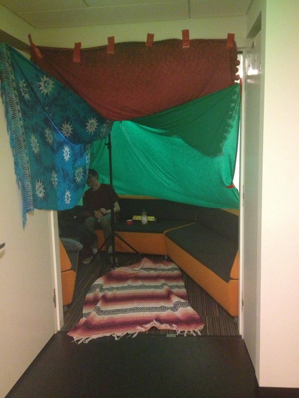 donqueerote:  Nick chilling in our fort